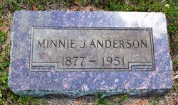 Mina Josephine Minnie <i>Saugen</i> Anderson