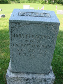 Harriete E <i>Morrow</i> Snell