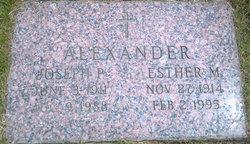 Esther M <i>Veltrie</i> Alexander