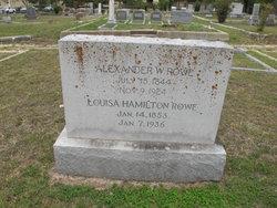 Louisa <i>Hamilton</i> Rowe