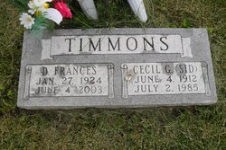 Cecil Gladstone Sid Timmons