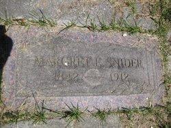 Margaret E <i>Alloway</i> Snider