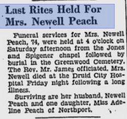 Mary E. <i>Bell</i> Peach