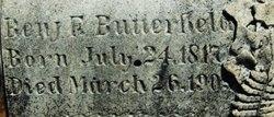 Benjamin F Butterfield