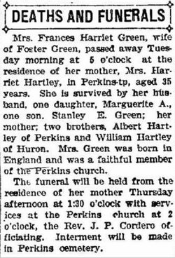 Frances Harriet <i>Hartley</i> Greene