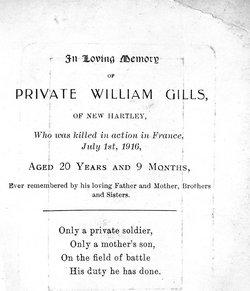 Pvt William Gills