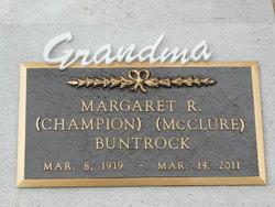 Margaret R <i>Champion</i> Buntrock