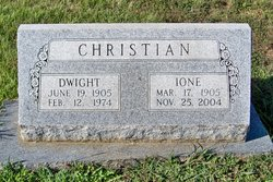 Ione Agnes <i>Coffman</i> Christian