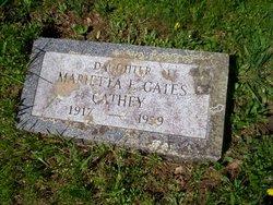 Marietta E. <i>Gates</i> Cathey