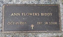 Ann <i>Flowers</i> Biddy