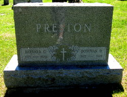 Donovan D Preston