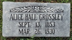 Alice <i>Hall</i> Crossley