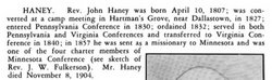 Rev John Born Johannes <i>Hennig</i> Haney
