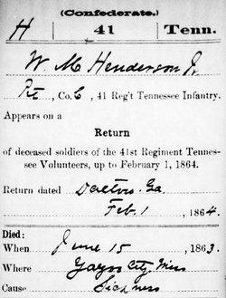 Pvt William McNallie Henderson