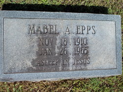 Mabel Pearl <i>Arendall</i> Epps