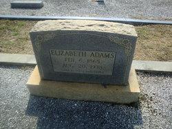 Elizabeth Lizzie <i>Blackstone</i> Adams