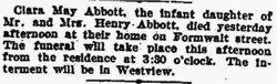 Clara May Abbott