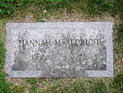 Hannah M <i>Cummings</i> Aldrich