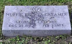 Mrs Nuffie <i>Brewer</i> Creamer