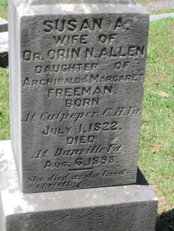 Susan A <i>Freeman</i> Allen