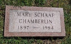 Mary <i>Schaaf</i> Chamberlin