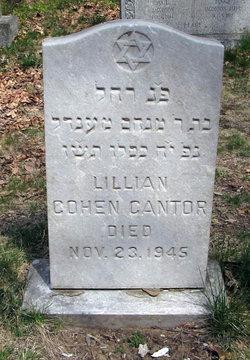 Lillian <i>Cohen</i> Cantor