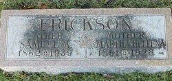 Martha Hellena <i>Johnson</i> Erickson