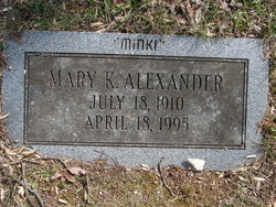 Mary K Alexander