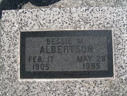 Bessie Marie <i>Switzer</i> Albertson