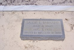 Sarah L Sallie <i>Jones</i> Barnard