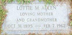 Lottie M <i>Cole</i> Allen