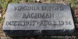Virginia <i>Buford</i> Bachman
