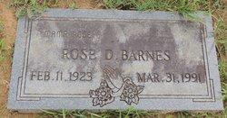 Rose D Barnes