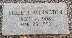 Lillie R Addington