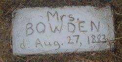 Mrs Bowden