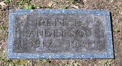 Irene D Anderson