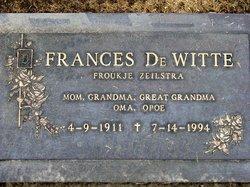 Frances <i>Zeilstra</i> Dewitte