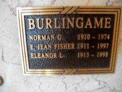 E Jean <i>Fisher</i> Burlingame