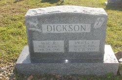 Violet E <i>Brown</i> Dickson