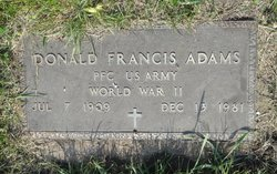 Donald Francis Adams