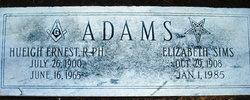 Elizabeth <i>Sims</i> Adams