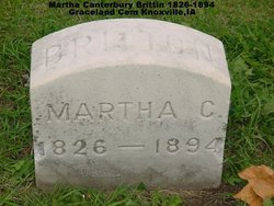 Martha Ann <i>Canterbury</i> Brittin