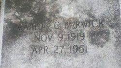 Marion C Barwick