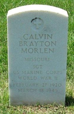 Sgt Calvin Brayton Morlen