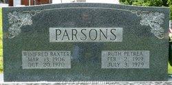 Winifred <i>Baxter</i> Parsons
