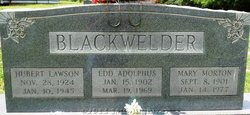 Pvt Hubert Lawson Blackwelder