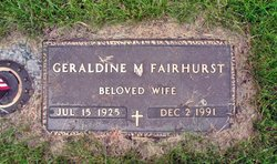 Geraldine M Fairhurst