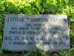 Letitia <i>Thompson</i> Cannon