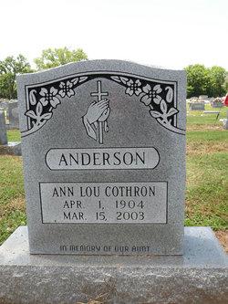 Ann Lou <i>Cothron</i> Anderson