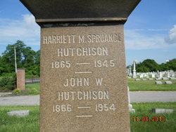Harriet M <i>Spruance</i> Hutchison